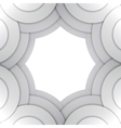 Abstract grey paper circles background vector image