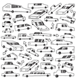 cars - doodles set vector image