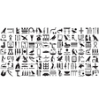 Silhouettes ancient Egyptian hieroglyphs Set 2 vector image