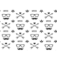 Hipster pattern Seamless background with vector image vector image