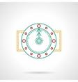 Thin color line round clock icon vector image