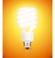 fluorescent lightbulb vector image vector image