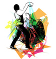 Couple dancing vector image vector image