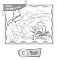 BW Columbus Day vector image