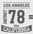 california los angeles district sport t-shirt vector image