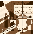 Collage with musical instruments vector image