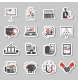 Finance Sticker Set vector image