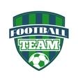 Football logo badge vector image