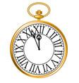 golden pocket watch vector image