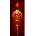 Hieroglyph of snake on the chinese flashlight vector image