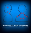 Neck pain vector image