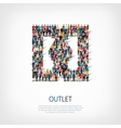 outlet people sign vector image