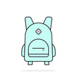 popular mint linear backpack icon on white vector image