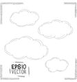 Set of doodle clouds vector image