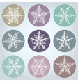 Snowflake winter set icon collection vector image