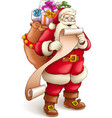 Santa Claus with full sack vector image vector image