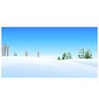 Fir trees snow landscape vector image vector image