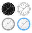 office clock icon in cartoon style isolated on vector image