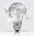 Light bulb with social networking concept vector image vector image
