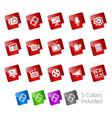 Multimedia Stickers vector image vector image