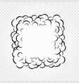 isolated cartoon speech bubbles frames of smoke vector image vector image