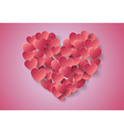 Heart Paper Sticker vector image