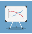 Graph on Whiteboard vector image vector image