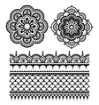 Mehndi Indian Henna tattoo seamless pattern vector image