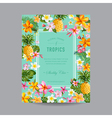 Tropical Floral Frame - for Invitation Wedding vector image