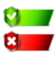 Security Banners with Shields vector image vector image