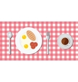 breakfast menu with egg bread vector image
