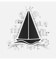 Drawing business formulas sailboat vector image