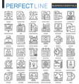 business essential outline concept symbols vector image