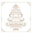 Calligraphy Christmas tree vector image