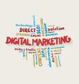 digital marketing word cloud in colors vector image