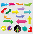 paper arrow stickers with shadows vector image