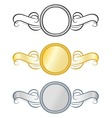 Retro Styled Awards Medals vector image