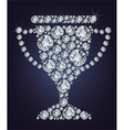 Diamond trophy cup vector image