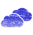 clouds grunge textured icon vector image