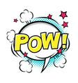 pow comic speech bubble comic sound cartoon vector image vector image
