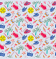 summer vacation pattern in beach style vector image