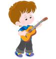 Little guitarist vector image vector image