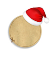 Banner With Cap Of Santa Claus vector image