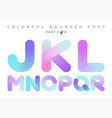3d liquid paint letters colorful neon rounded vector image