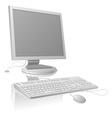 LCDmonitor and keyboard vector image vector image