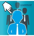 Leadership business entrepreneur vector image