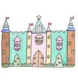 Pastel cartoon castle vector image