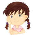 Cute girl half body vector image