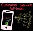 Customer Service Good Attitude vector image