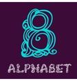 Doodle hand drawn sketch alphabet Letter B vector image
